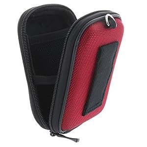 Kameratasche inkl. Handschlaufe und Karabiner - Größe: Kompaktkamera S 1.2 - Hardcase - Rot