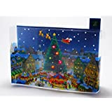 Christmas Festival Lights & 16 Melodies Pop Up Greeting Card / Christmas Card