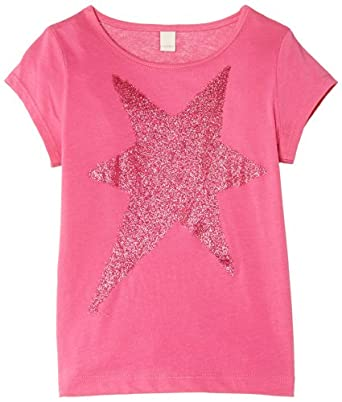 Esprit Girls Star T-Shirt, Floral Pink, 2 Years (Manufacturer Size:92+ cm)