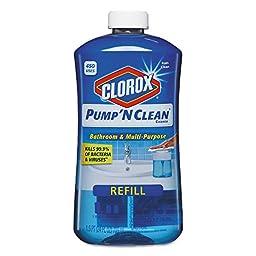 Clorox 31253 Pump \'N Clean Bathroom Cleaner, Rain Clean Scent, 24 oz. Pump Bottle (Pack of 4)