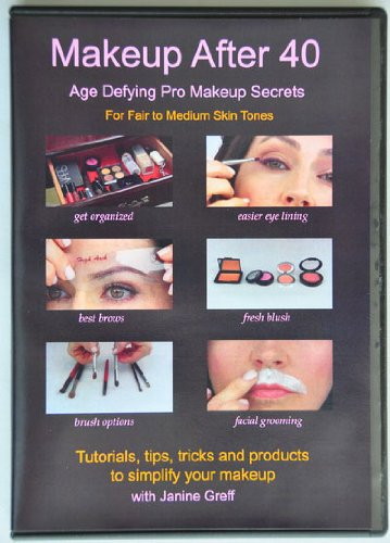 Makeup After 40 DVD Tutorial + 2 Free Products (Lip Stain and Pencil) - Age Defying Pro Makeup Secrets
