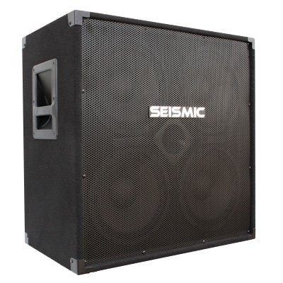 Seismic Audio - 410 Bass Guitar Speaker Cabinet with Horn PA DJ 400 Watts 4x10 4 10