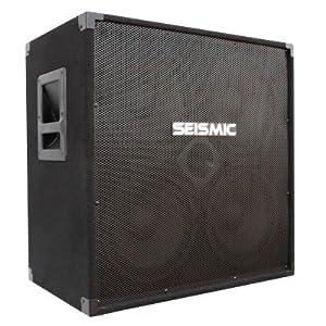 seismic audio 410 bass guitar speaker cabinet with horn pa dj 400 watts 4x10 4 10. Black Bedroom Furniture Sets. Home Design Ideas