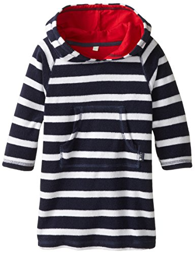 Jojo Maman Bebe Baby Boys' Toweling Hooded Pull On, Navy White Stripe, 12 24 Months