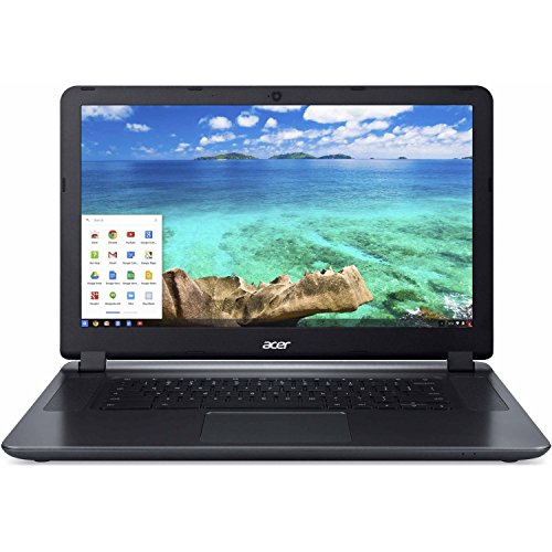 2016 Newest Acer Chromebook 15.6-inch Laptop (Intel Dual-Core Processor up to 2.41GHz, 2GB RAM, 16GB SSD, 802.11ac WiFi, Bluetooth, USB 3.0, HDMI, Black) (Certified Refurbished)