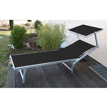 alu liege sonnenliege strandliege mit sonnendach m14 anthrazit 39 db903. Black Bedroom Furniture Sets. Home Design Ideas