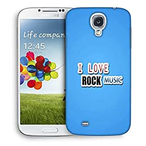 Snoogg I Love Rock Music Designer Protective Phone Back Case Cover For Samsung Galaxy S4