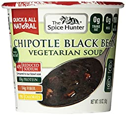 The Spice Hunter Chipotle Black Bean, Veg Soup Cup, 1.8-Ounce (Pack of 6)