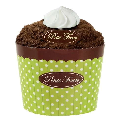 Heritage Lace Petits Fours Two Piece Chocolate Cupcake Soap and Towel Set