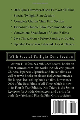 2000 of the Best Films of All Time - 2016 Edition: WIth Special Twilight Zone Section