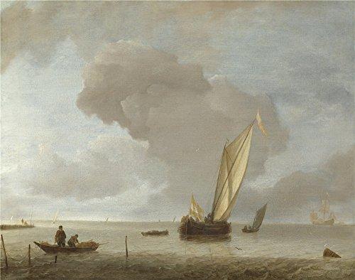 oil-painting-jan-van-de-cappelle-a-small-dutch-vessel-before-a-light-breeze-24-x-30-inch-61-x-77-cm-