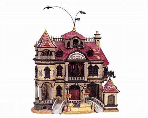 lemax-spooky-town-halloween-animated-house-of-wax-35784-with-sound-and-lights-flying-bats-mummy-coff