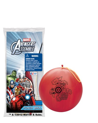 Pioneer National Latex Marvel Avengers Assemble with 6 Punch Balls, Assorted