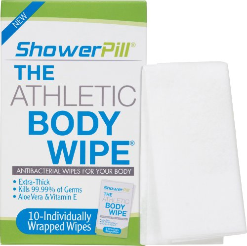 The Athletic Body Wipes Showerpill 10 Packet