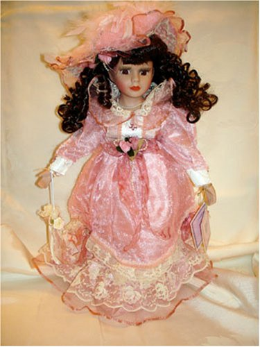 Porcelain Doll, Pink Dress, Brown Hair - Buy Porcelain Doll, Pink Dress, Brown Hair - Purchase Porcelain Doll, Pink Dress, Brown Hair (Kinnex, Toys & Games,Categories,Dolls,Porcelain Dolls)