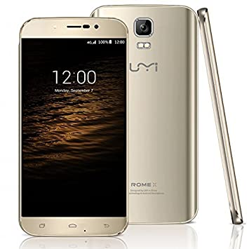 """UMI ROME X 2.5D Smart Phone 5.5 """"Cellphone 1GB RAM 8GB ROM Android 5.1 64bit MTK6580 Quad Core 1.3 GHz 1280x720p (or)"""