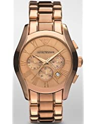 Emporio Armani Chronograph Rose Gold-Tone Mens Watch AR0365