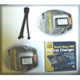 TWO 2X NP-FV70 Batteries + Dual Bay USB Charger For Sony DCR-SX43 DCR-SX44 SX45