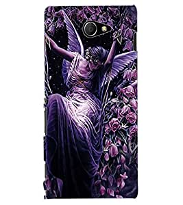 ColourCraft Beautiful Angel Design Back Case Cover for SONY XPERIA M2 DUAL D2302