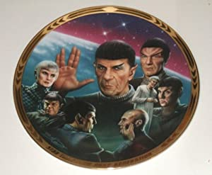 "The Hamilton Collection: ""UNIFICATION"" from the STAR TREK THE NEXT GENERATION THE EPISODES Plate Collection - Limited Edition Decorative Plate"