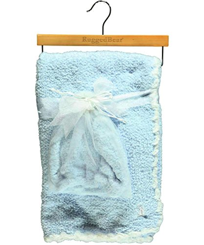"Rugged Bear ""Cloud Outline"" Blanket with Cap - blue, one size - 1"
