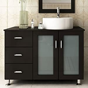39 Lune Small Single Sink Modern Bathroom Vanity