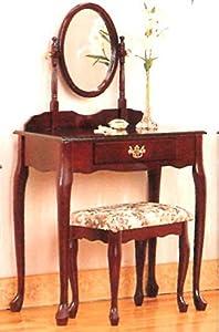 Schminktisch inkl. Hocker + Spiegel Frisierkommode Frisiertisch Kosmetiktisch  BaumarktRezension