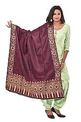 Weavers Villa - Women's Kalamkari Style Purple Shawls ,Stoles