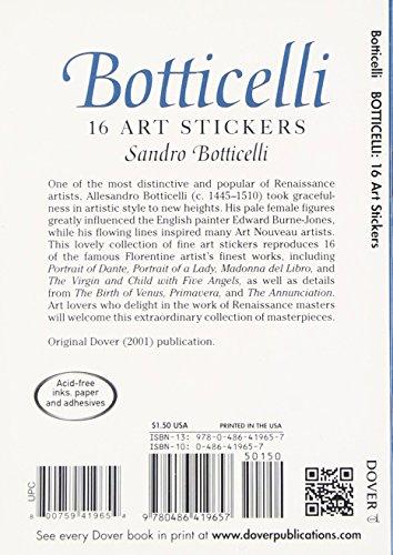 Botticelli: 16 Art Stickers (Dover Art Stickers)