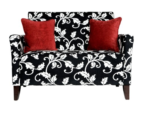 Angelo Home Sutton Loveseat Black And White Vine Buy Angelo Home Sutton Loveseat Black And