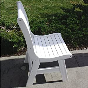 Malibu Outdoor Living Newport Dining Chair - Weathered Wood and Black
