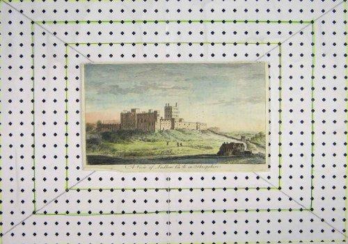 Colour Print View Ludlow Castle Shropshire England