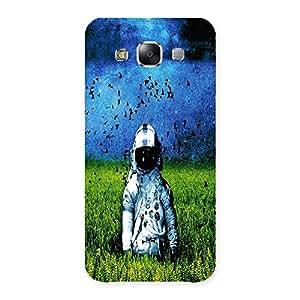 Ajay Enterprises Space Man in Garden Back Case Cover for Samsung Galaxy E5