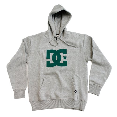 DC Mens Star PH1 Hoodie - Heather Grey / Green (S)