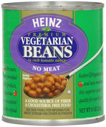Heinz Vegetarian Beans in Rich Tomato Sauce 8 Ounce Cans Pack of 24