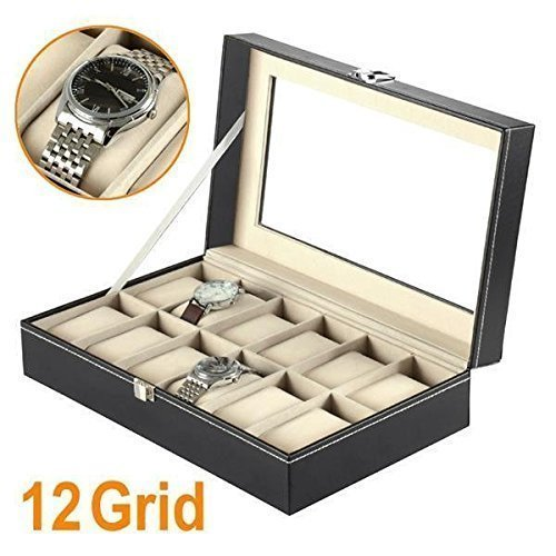 12-watch-display-box-case-faux-leather
