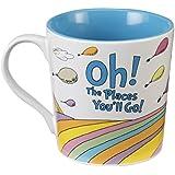 Vandor 17761 Dr. Seuss Oh The Places Ceramic Mug, 12-Ounce, Multicolored