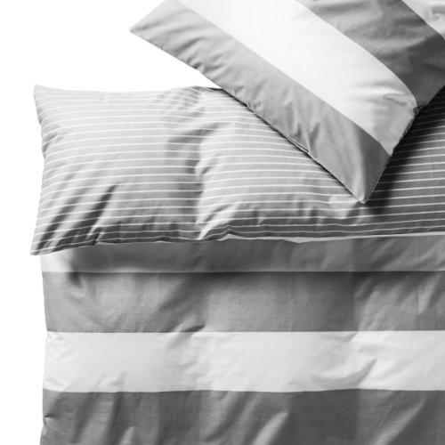 Bettwäsche-Set Streifen 135 x 200 cm
