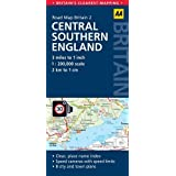 AA Road Map Britain Central Southern England