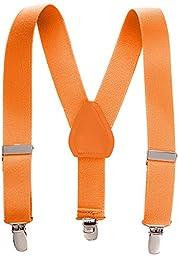 Kids Elastic Adjustable Suspenders - Orange (26\