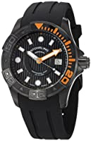 Stuhrling Original Men's 718.04 Aquadiver Manta Ray Swiss Quartz Professional Diver Black Watch by Stuhrling Original