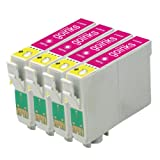 4 Compatible Magenta XL Printer Ink Cartridges to replace T1813 (18XL Series) for use in Epson Expression Home XP-30, XP-102, XP-202, XP-205, XP-302, XP-305, XP-402, XP-405, XP-405WH (Capacity: 15ml)