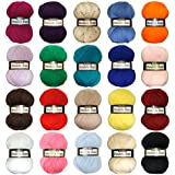 Marriner Yarns Double Knit Bumper Pack   20 x 100g Balls of Assorted Double Knitting Yarn   Colours Will Vary Depending On Availability   100% Acrylic