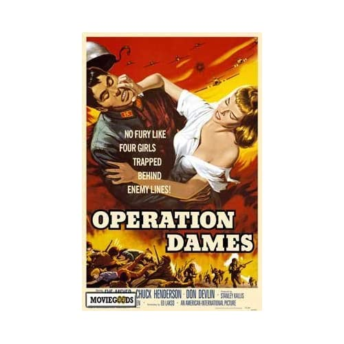 Amazon.com - Operation Dames Poster Movie 27x40 Alice Allyn Ed Craig