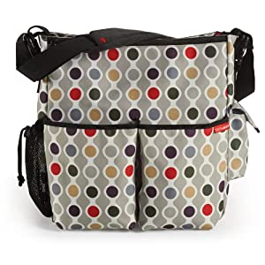 Skip Hop Duo Deluxe Diaper Bag, Wave Dot