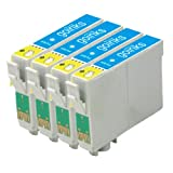 4 Compatible Light Cyan Printer Ink Cartridges to replace T0795 for use in Epson Stylus Photo 1400 & 1410