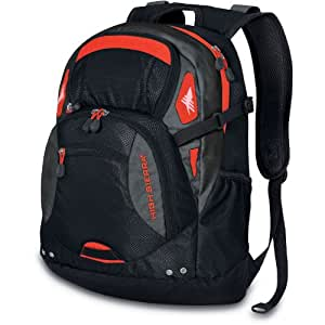 High Sierra Scrimmage Backpack, Black/Charcoal Red, 19.25x13.5x9.25-Inch
