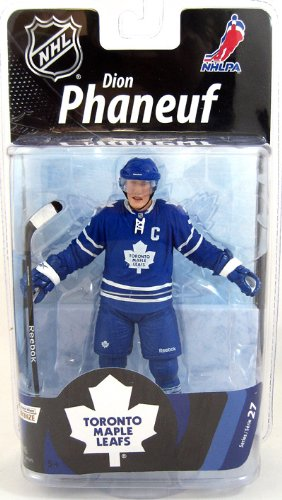 McFarlane Toys NHL Sports Picks Series 27 Action Figure Dion Phaneuf (Toronto Maple Leafs) White Jersey Bronze Collector Level Chase