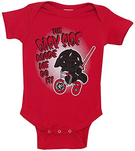 Star Wars Dark Side Made Me Do It Vader Snapsuit Bodysuit one piece Snapsuit
