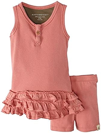 Burt's Bees Baby Baby Girls' Tank Dress And Short Set (Baby) - Chrysanthemum